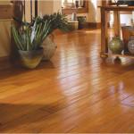 El cálido suelo de madera