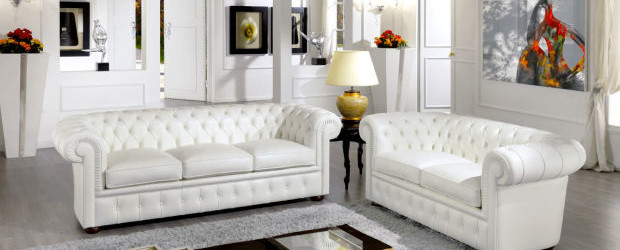Un sof blanco la luz del sal n universo muebles for Muebles universo