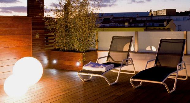 Terraza consejos para la decoraci n universo muebles Iluminacion de terrazas exteriores