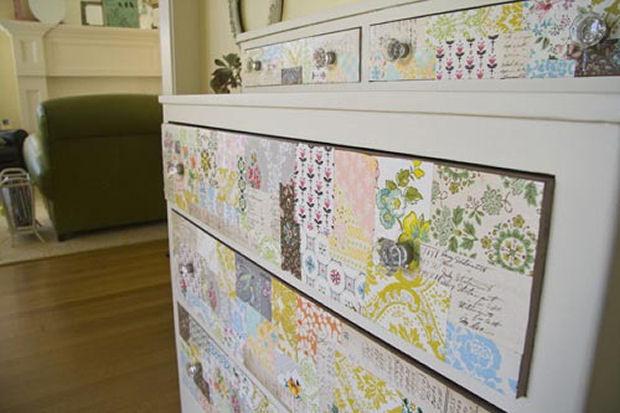 Decorar los muebles con papel de pared - Universo Muebles