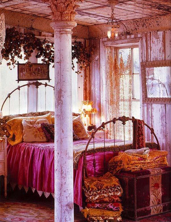Dormitorios Boho Chic_ via Melissa Bedwell _ FOTO 5