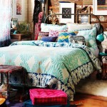 Dormitorio de estilo boho chic